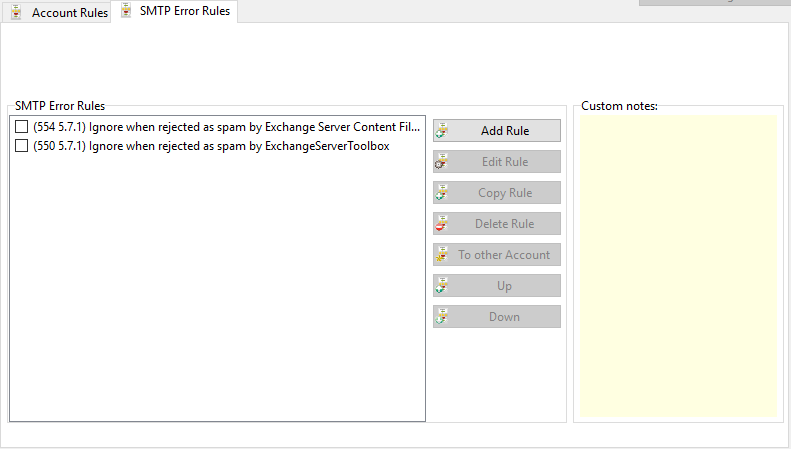 Rules > SMTP Error Rules