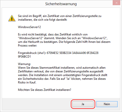 Scan Einstellungen > Exchange-Server scannen > SSL/TLS-Zertifikat