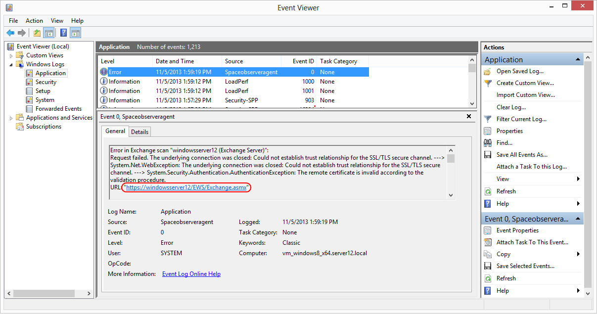 Configure Scans > Scan Exchange Server > SSL/TLS Certificate